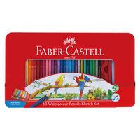 シヤチハタ 水彩色鉛筆 ファーバーカステル 60色セット TFC-WCP/60C