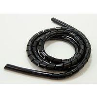 ジェフコム スパイラルチューブ(黒) EM-SCB-0618 1個(直送品)
