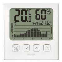 タニタ グラフ付き デジタル温湿度計 TT580WH 1個(わけあり品)
