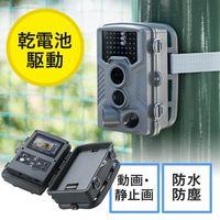 サンワダイレクト 防犯カメラ トレイルカメラ(家庭用・屋外・屋内・電源不要・乾電池式・防水防塵IP54) 400-CAM061 1台(直送品)
