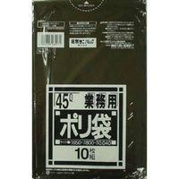 日本サニパック N47 業務用45L厚口 黒 4902393264471 1セット(400枚:10枚×40)(直送品)