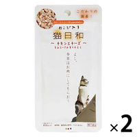 猫日和 猫用 パウチ チキンとチーズ 国産 40g 2袋