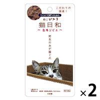 猫日和 猫用 パウチ 鹿肉ジビエ 国産 40g 2袋
