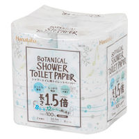 トイレットペーパー1.5倍巻き 8ロール ダブル Hanataba ボタニカルシャワー 1パック(8ロール入)丸富製紙株式会社