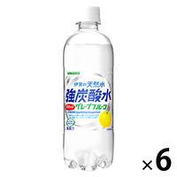 サンガリア 伊賀の天然水 強炭酸水 グレープフルーツ 500ml 1セット(6本)