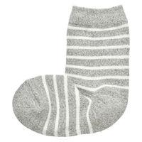 無印良品 足なり直角 足のサイズに合わせてくれる靴下 ボーダー キッズ 19~23cmシルバーグレーボーダー 良品計画