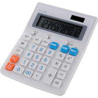 オーム電機 電卓 税率切替 大型 KCL-400-W(直送品)