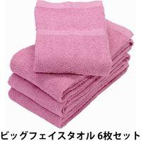 hiorie(ヒオリエ) 日本製 デイリー ビッグフェイスタオル ラズベリー 6枚(直送品)