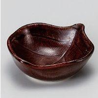 アースモス 美濃焼 珍味 飴木の葉豆鉢 (14個入)(直送品)