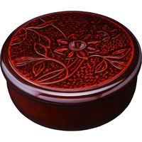 紀州漆器協同組合 茶櫃 新鎌倉彫 鉄仙 1個(直送品)
