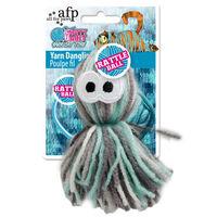afp ヤーン ダングリング オクトパス 猫用 おもちゃ 毛糸素材