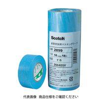 スリーエム ジャパン(3M) 3M マスキングテープ(建築塗装用) 6mmX18m 20巻入り 2899 6X18 762-6258(直送品)