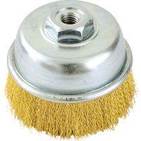 イチネンMTM ブレニクイカップブラシ 真鍮線 75mm×m10 線径0.15mm 29155(直送品)