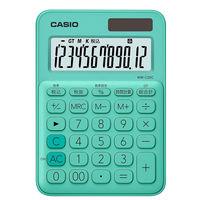 カシオ計算機 カラフル電卓 ミントグリーン MW-C20C-GN-N 緑 1個