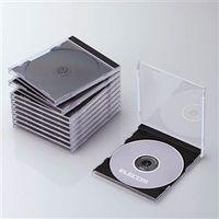 エスコ(esco) CD/DVD用 プラスチックケース(ブラック/10枚) 1セット(50枚:10枚×5パック) EA759GR-10A(直送品)