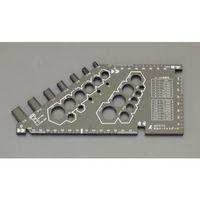 エスコ(esco) ボルト・ナットゲージ 1セット(9個) EA725SD-51(直送品)