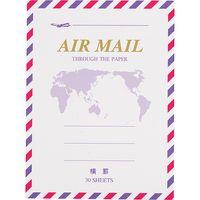 マルアイ エアメール便箋ミニ 横罫 FM-H226 5冊(直送品)