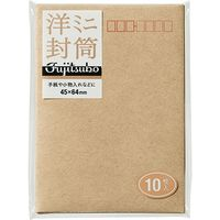 マルアイ クラフト洋形封筒ミニ FM-Y12S 5袋(50枚:10枚入×5)(直送品)