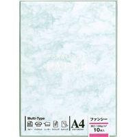マルアイ OA用紙 厚口 103 ブルー OA-103 5袋(50枚:10枚入×5)(直送品)