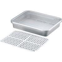 アカオアルミ アカオ アルマイト冷凍ケース 蓋のみ 030100 5枚(直送品)