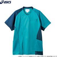 住商モンブラン スクラブ メンズ 半袖 ターコイズ×ブルー CHM855-43_8L(直送品)
