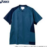 住商モンブラン スクラブ メンズ 半袖 ブルー×ネイビー CHM855-39_L(直送品)