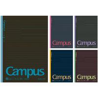 キャンパスノート カラー表紙 A罫 5色