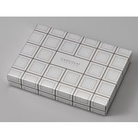 ヤマニパッケージ ミロワールショコラM(12×8) 20-2052 1ケース(100:フタ・身100枚ハチマキ)(直送品)