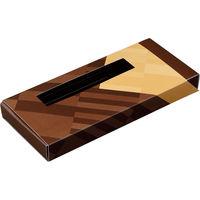 ヤマニパッケージ タブレットショコラ ブラン 20-1671B 1ケース(100:各50枚ハチマキ)(直送品)