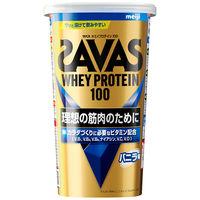 ザバス(SAVAS) ホエイプロテイン100 バニラ味 14食分 1袋 明治 プロテイン