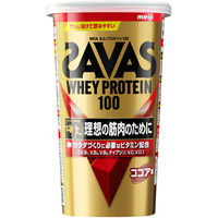 ザバス(SAVAS) ホエイプロテイン100 ココア味 14食分 1袋 明治 プロテイン