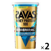 ザバス(SAVAS) ホエイプロテイン100 ヨーグルト風味 14食分 1セット(2袋) 明治 プロテイン