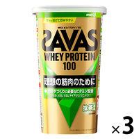 ザバス(SAVAS) ホエイプロテイン100 抹茶風味 14食分 1セット(3袋) 明治 プロテイン