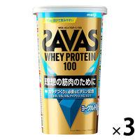 ザバス(SAVAS) ホエイプロテイン100 ヨーグルト風味 14食分 1セット(3袋) 明治 プロテイン