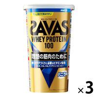 ザバス(SAVAS) ホエイプロテイン100 バニラ味 14食分 1セット(3袋) 明治 プロテイン