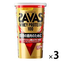 ザバス(SAVAS) ホエイプロテイン100 ココア味 14食分 1セット(3袋) 明治 プロテイン