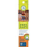 トンボ鉛筆 かきかた鉛筆F木物語02黄緑B KB-KF02-B 1ダース(直送品)