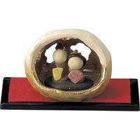 雛人形 雛 玉籠(金穴アキ黒台) (2個入)(直送品)