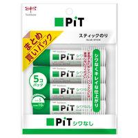 トンボ鉛筆 スティック糊シワなしピットS5Pパック HCA-518 5個(直送品)