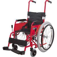 カワムラサイクル アルミ自走車いす 子供用 フレームレッド KAC-N32 【車いす】介援隊カタログ(直送品)