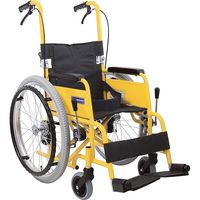カワムラサイクル アルミ自走車いす 子供用 フレームイエロー KAC-NB32 【車いす】介援隊カタログ(直送品)