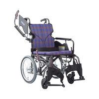 カワムラサイクル モダンB A11_紫チェック KMD-B16-38-LO 介助式 【車いす】介援隊カタログ W2217(直送品)