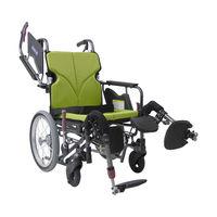カワムラサイクル モダンB A9_緑チェック KMD-B16-42EL-LO 介助式 【車いす】介援隊カタログ W2216(直送品)