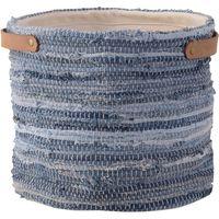 東谷 ファブリックプランター 約幅300×奥行300×高さ280mm ブルー TTZ-524 1個(直送品)