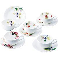 ナルミ 【ギフト包装】 ルーシーガーデン アソートティー・コーヒー5客碗皿 96010-23067P(直送品)