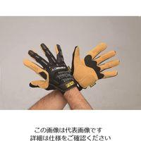 エスコ(esco) [S] 手袋・メカニック(合成革/黒・ブラウン) 1双 EA353BY-331(直送品)