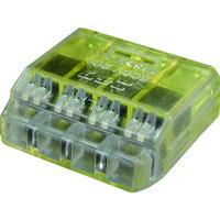 ニチフ端子工業 ニチフ クイックロック 差込形電線コネクタ 極数4 黄透明 50個入 QLX 4 1箱(50個) 137-9762(直送品)