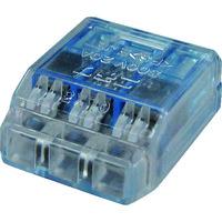 ニチフ端子工業 ニチフ クイックロック 差込形電線コネクタ 極数3 青透明 50個入 QLX 3 1箱(50個) 137-9761(直送品)