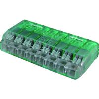 ニチフ端子工業 ニチフ クイックロック 差込形電線コネクタ 極数8 緑透明 20個入 QLX 8 1箱(20個) 137-9765(直送品)