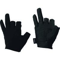 おたふく手袋 おたふく フーバー シンセティックレザーグローブ 3フィンガーレスモデル ブラック L FB-62-BK-L 147-6221(直送品)